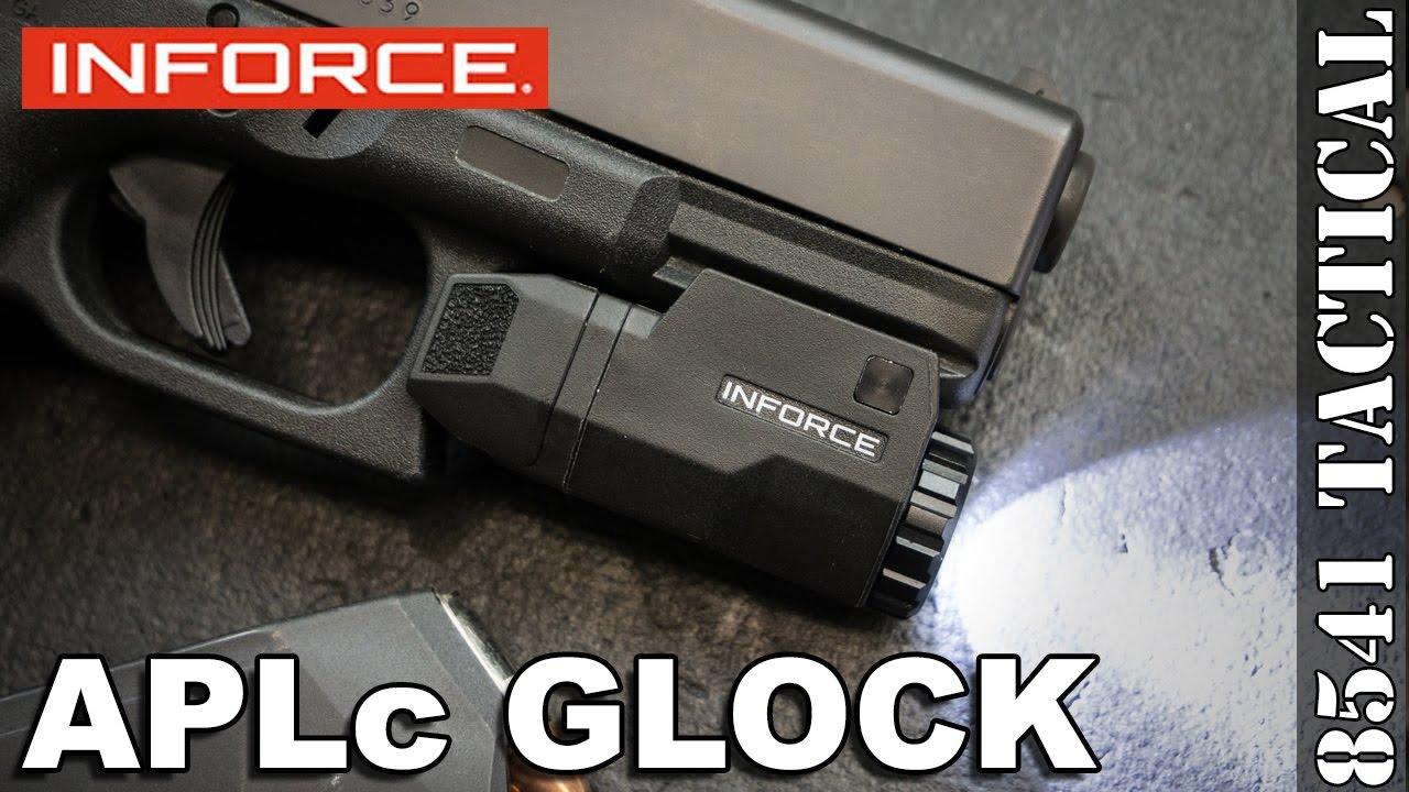 inforce aplc glock pistol light review youtube