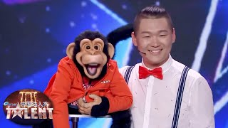 Funny ventriloquist leaves everyone ENTERTAINED!  China&#39s Got Talent 2019 中国达人秀