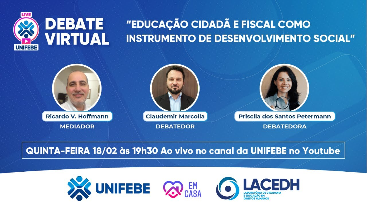 Observatório Social participa de live sobre Educação Cidadã e Fiscal
