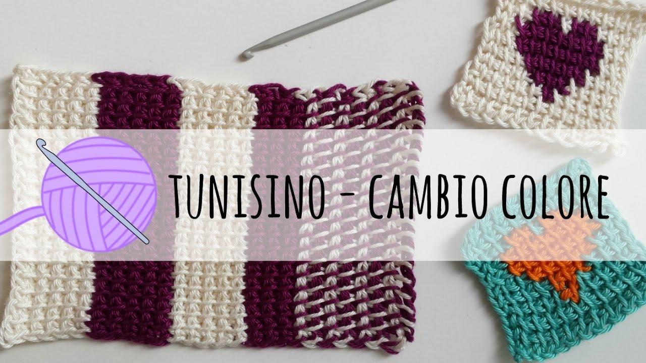 Tutorial Uncinetto Tunisino Cambio Colore By Fabcroc