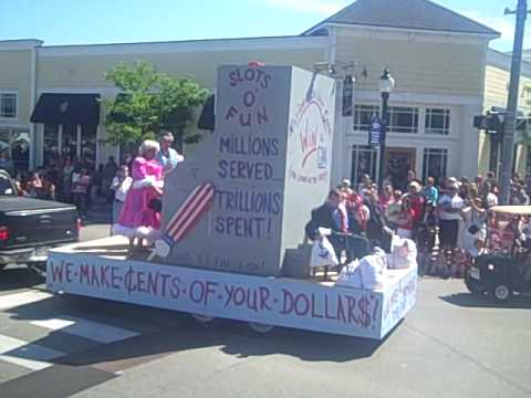 "Boyne City 4th of July parade - ""We make cents of your dollars!"" National Bailout Corp."