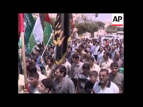 Nablus rally in support of Rantisi, Jenin funeral