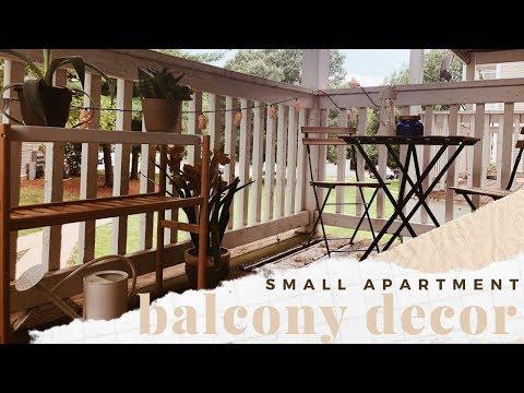 small apartment patio makeover | cozy balcony decor on a budget