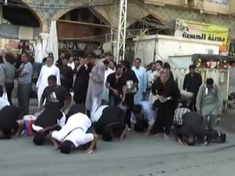 Pursa Karbala Ramzaan 2012-Noha Khwani on Arrival, Outside Haram Ghazi Abbas(as) Travel Video