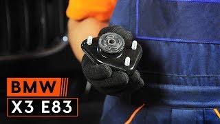 Kā nomainīt Amortizatora statnes balsts BMW X3 (E83) - video ceļvedis