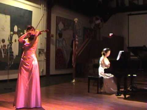 Dvorak - Songs My Mother taught Me Bin Huang violin Hyun Sun Kim piano