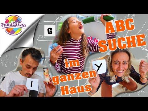 ABC ALPHABET SUCHEN im GANZEN HAUS - finde DINGE mit diesem BUCHSTABEN | Family Fun