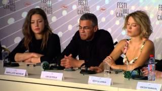Conference La vie d Adele - Lea Seydoux and Adele Exarchopoulos