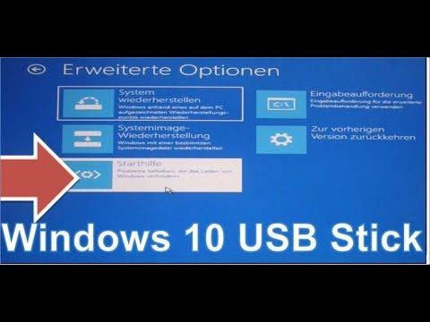 Windows 10 Usb Boot Stick Erstellen Und System Reparieren Usb Bootstick Repairstick Betriebssystem Youtube