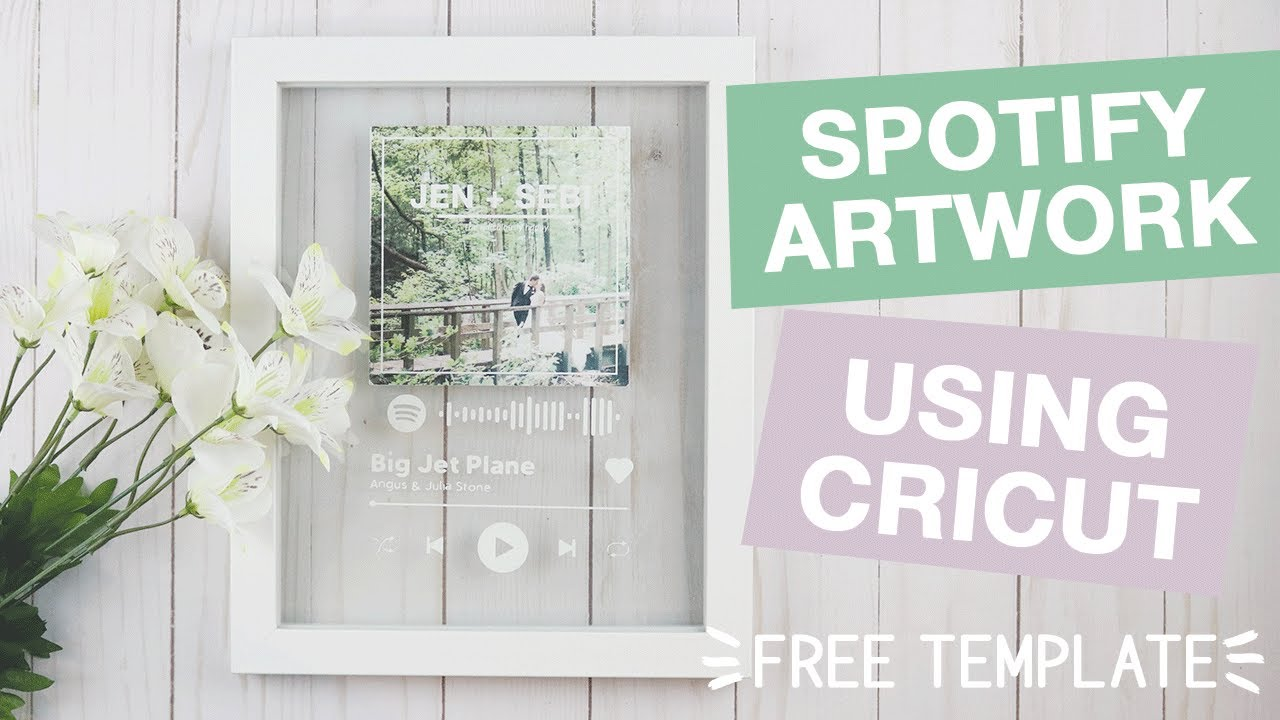 Spotify Glass Artwork Using Cricut As Seen On Tik Tok Youtube