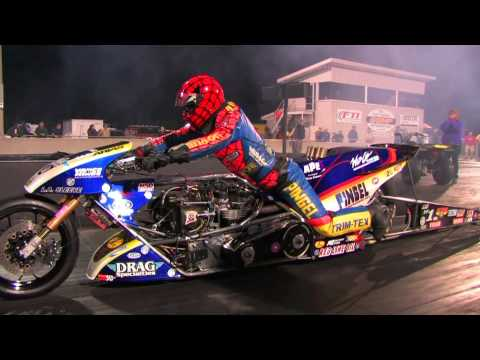 Top Fuel Nitro Motorcycle Import vs Harley - Larry Spiderman Mcbride 5.83et @ 232mph