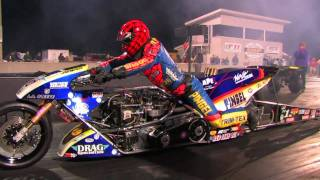 Top Fuel Nitro Motorcycle Import vs Harley - Larry 'Spiderman' Mcbride 5.83et @ 232mph