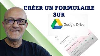 Google Drive, créer un formulaire avec Google FORMS