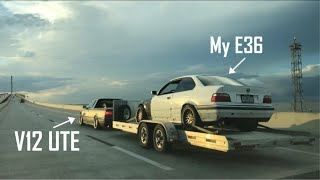 V12 BMW Truck Tows My E36 to a Drift Event