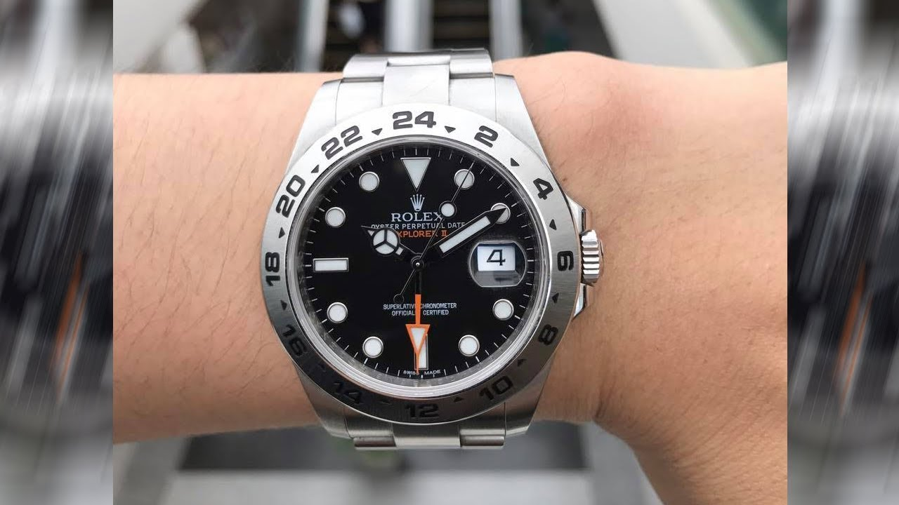 Rolex Explorer II 216570 Black dial 42 mm stainless steel swiss made luxury  watch on wrist