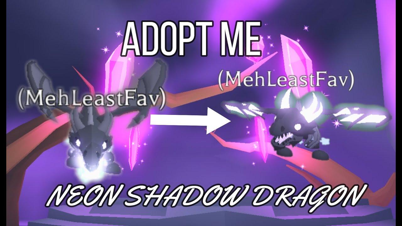 Lf Neon Shadow Dragon Adoptmetradingroblox Making A Neon Shadow Dragon Adopt Me Youtube