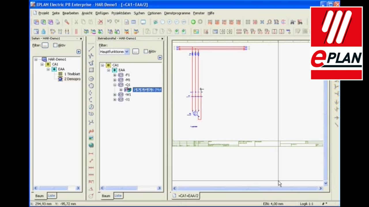 Tutorial eplan electric p8 devices youtube for What is eplan software