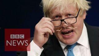 Boris Johnson's rugby scrum joke - BBC News