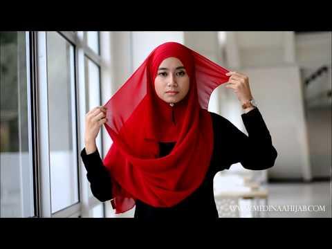 Wide Shawl Tutorial by Medinaa Hijab #1