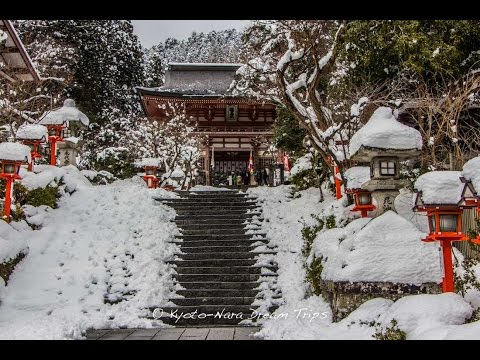 Magic Snow Scenery at Kurama Dera in Kyoto.
