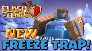 Clash of Clans NEW Freeze Trap - Full Army Challenge! Clashmas Gift #2