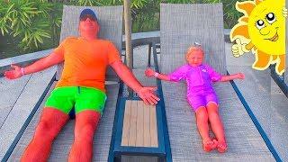Nastya và cha, câu chuyện vui về mặt trời