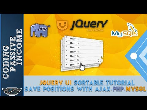 jQuery UI Sortable Tutorial - Save Positions With Ajax & PHP & MySQL