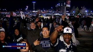 Cowboys fans brave cold temps to tailgate at playoff game