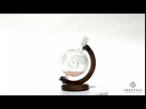 Police Officers Decanter - Etched Globe Decanter
