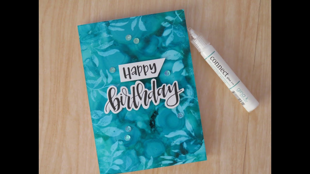 Alcohol Ink background with lift off technique FAIL