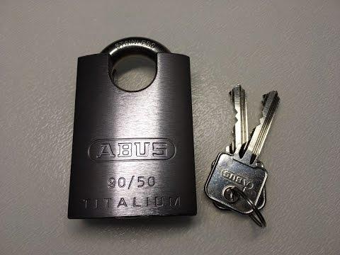Взлом отмычками ABUS   (215) ABUS Titalium 90/50 Padlock Picked