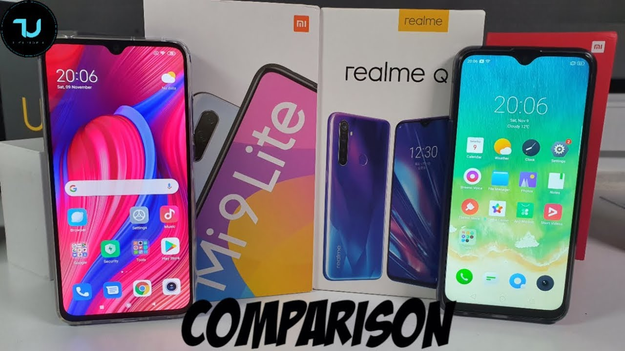 Xiaomi MI9 Lite/CC9 vs Realme 5 Pro/Q Camera comparison/Screen/Size/Sound Speakers/Design! Review