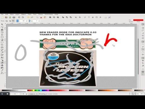 New mode of eraser tool for Inkscape