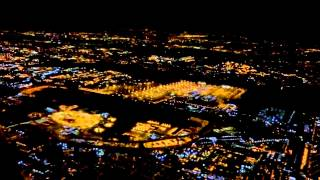 Night flight over NEW YORK, Jan 9, 2015