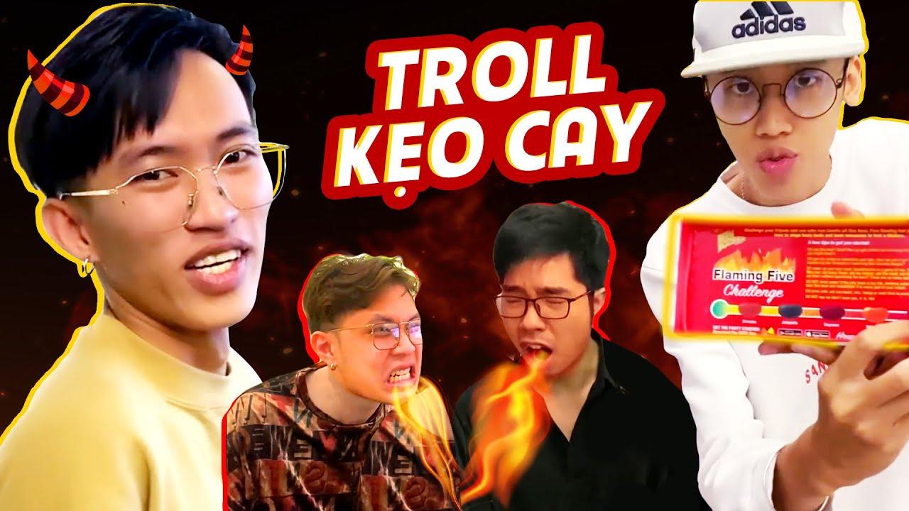 Thách thức bản lĩnh đàn ông với kẹo cay?   Cường Kido   Troll cả thế giới