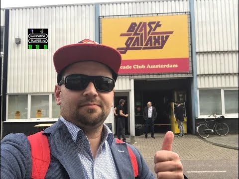 Let's Visit BLAST GALAXY Arcade ( Club Amsterdam ) - Full Tour - 100+ Arcade Games