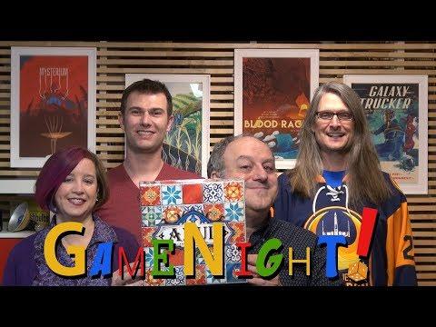 Azul - GameNight! Se5 Ep21 2018 Spiel des Jahres Winner! - How to Play and Playthrough