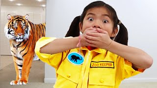 Download Emma and Andrew Learns about Animals and Animal Names for Kids | Fun Educational Pretend Play Video Mp3 and Videos