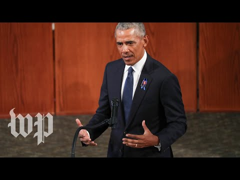 Barack Obama's full eulogy at John Lewis's funeral