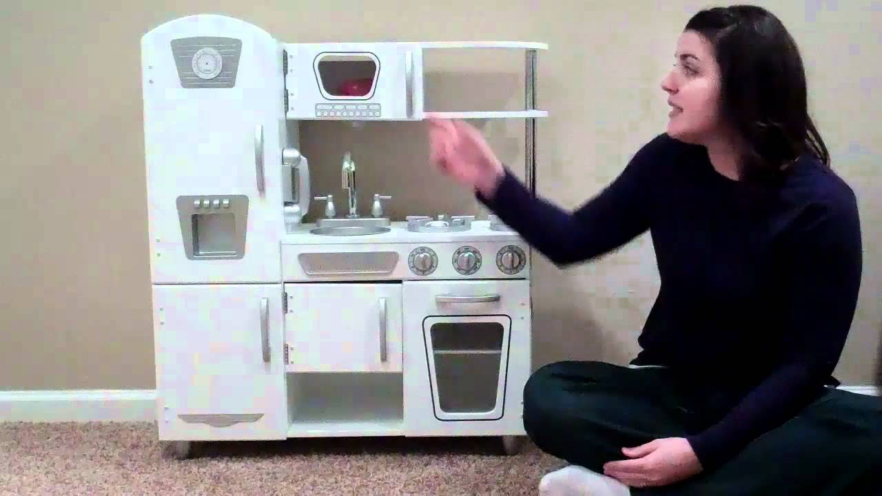 Kidkraft Wooden Play Kitchen kidkraft white vintage kitchen - youtube