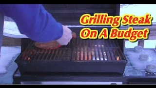 Grilling A Flat Iron Steak-- Low Cost & Delicious