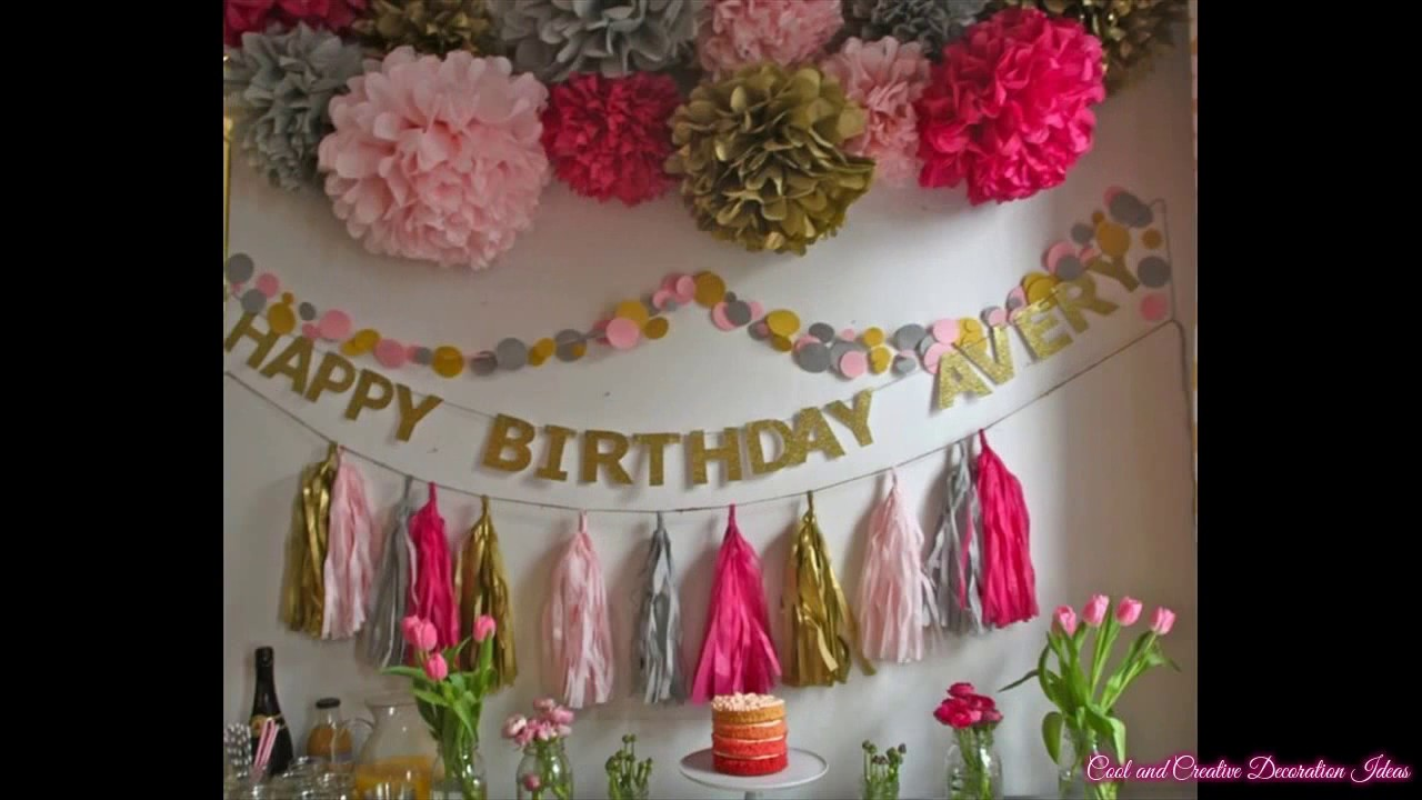 Baby Girl First Birthday Party Decorating Ideas Youtube