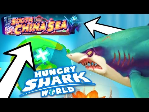 NEW SOUTH CHINA SEA MAP....!!!! (Hungry Shark World)