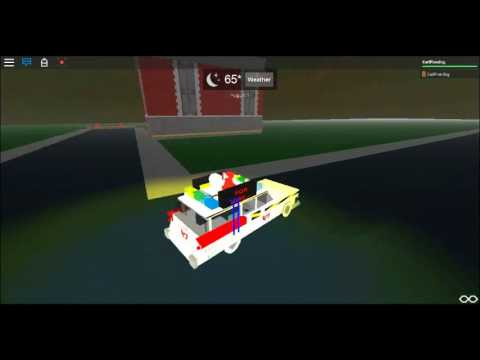 Roblox Ghostbusters Test Driving Ecto 1c Youtube