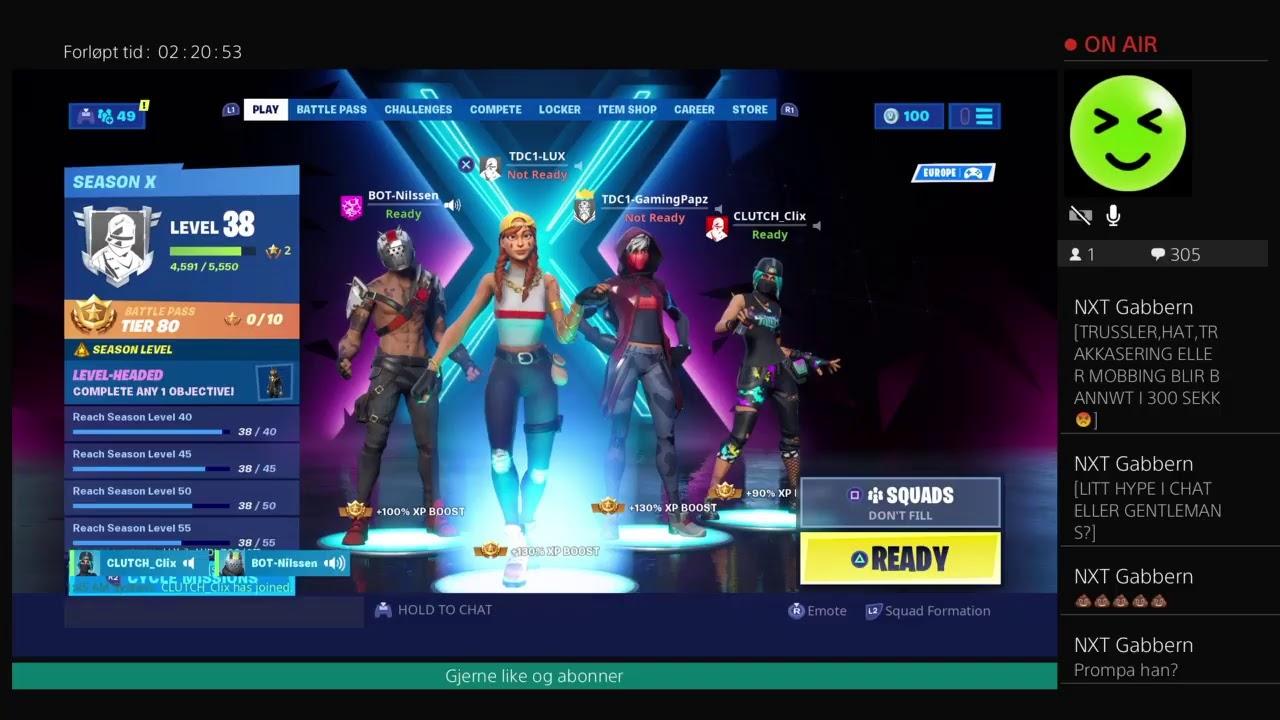 Norsk fortnite stream  Duo med gaming papz, Og squad