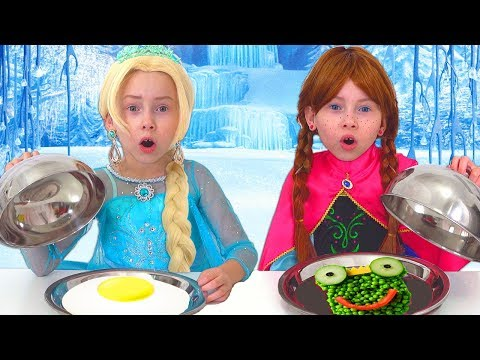 Frozen Elsa And Anna on Food COOKING Competition