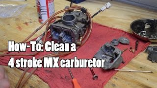 how to clean a 4 stroke mx quad carburetor