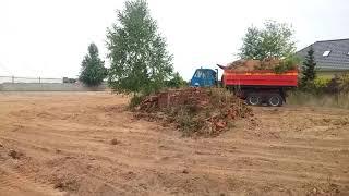 Steyr jazda po terenie budowy.