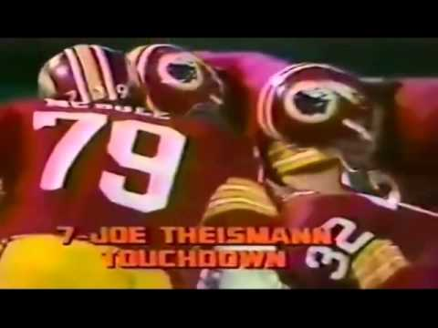 Joe Theismann Touchdown Dive 1977