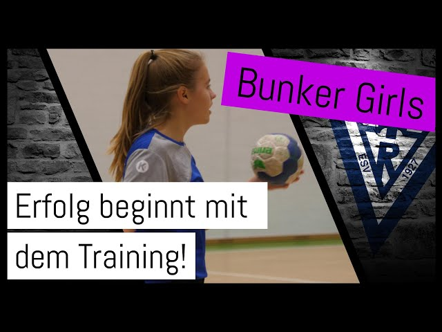 Die Bunker Girls - C-Juniorinnen im Handballtraining